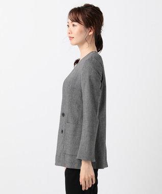 ICB 【洗える】Linen Kersey ジャケット ブラック系