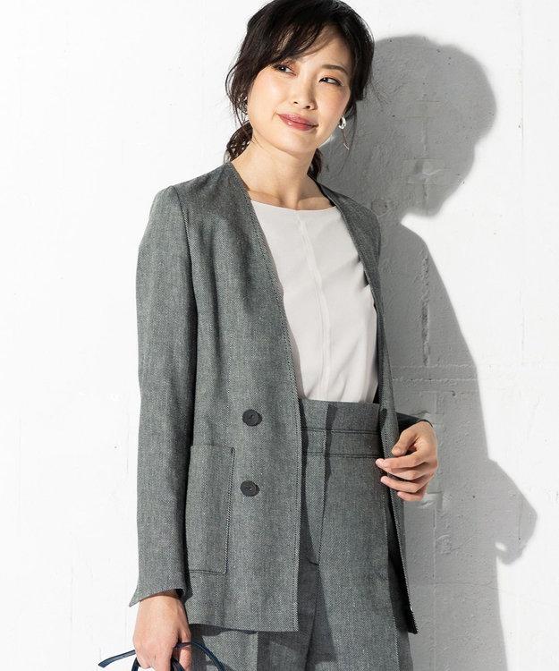 ICB 【洗える】Linen Kersey ジャケット