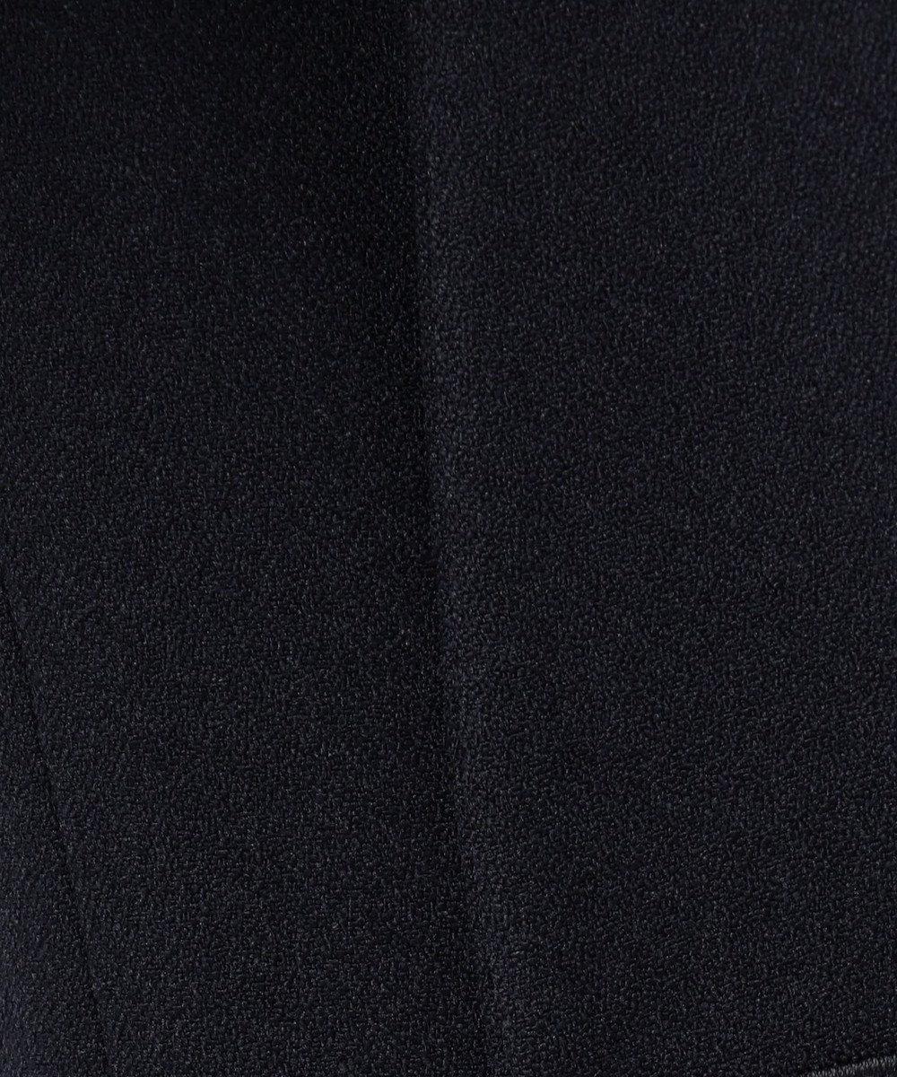 ICB 【セットアップ】Warm Georgette ノーカラー ジャケット ネイビー系