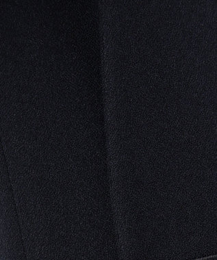 ICB L 【セットアップ】Warm Georgette ノーカラー ジャケット ネイビー系