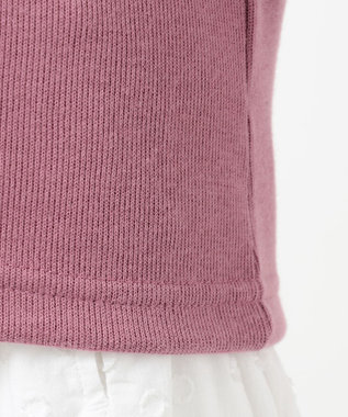 any FAM KIDS 【100-130cm】ダブルフェイス表起毛 カーディガン ローズ系
