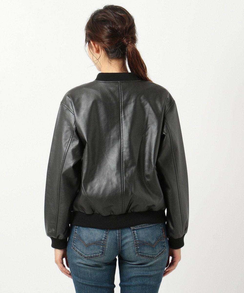 any FAM L 【洗える】スエード&合皮 ジャケット ブラック系
