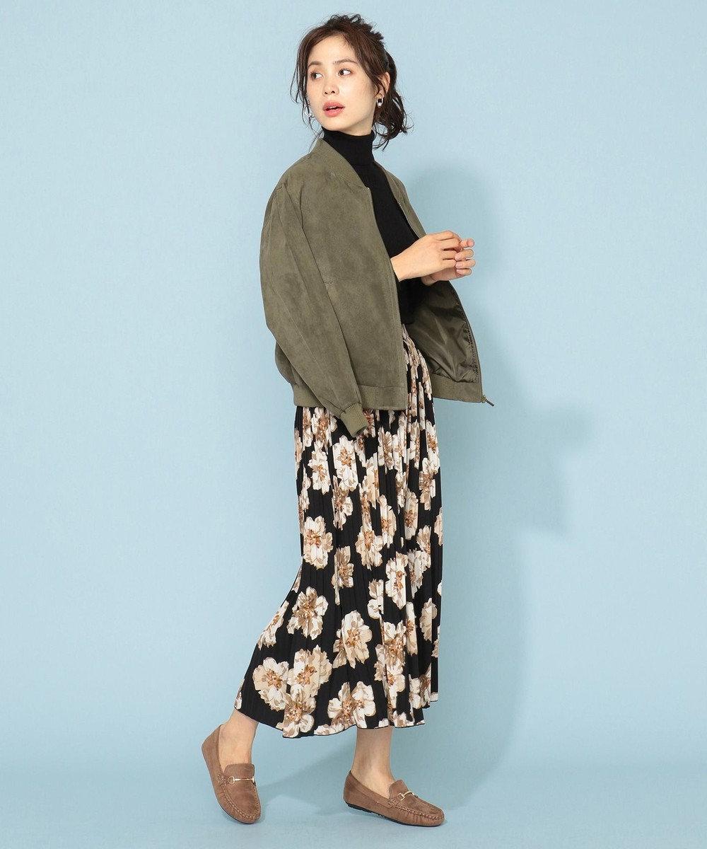 any FAM L 【洗える】スエード&合皮 ジャケット カーキ系