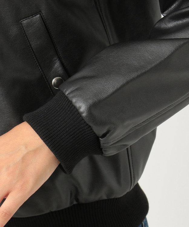 any FAM L 【洗える】スエード&合皮 ジャケット