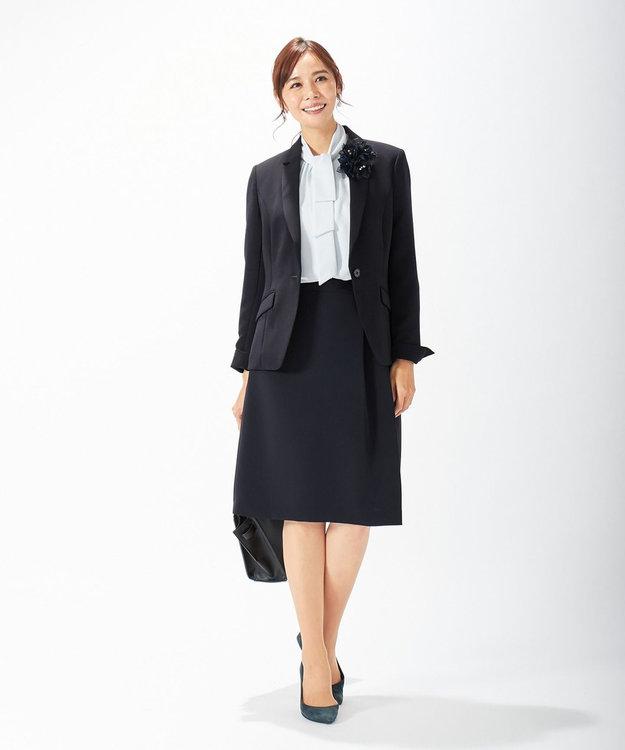 J.PRESS LADIES 【ニオイ菌抑制】洗えるヴィーナスダブルクロス テーラードジャケット