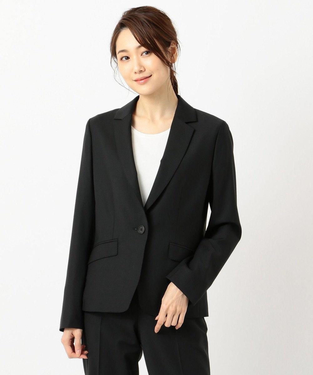 J.PRESS LADIES L 【スーツ】BAHARIYEストライプorチェック テーラードジャケット ブラックストライプ