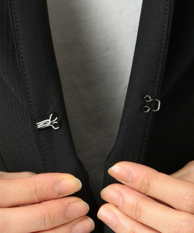 J.PRESS LADIES S 【スーツ】BAHARIYEストライプ ノーカラージャケット