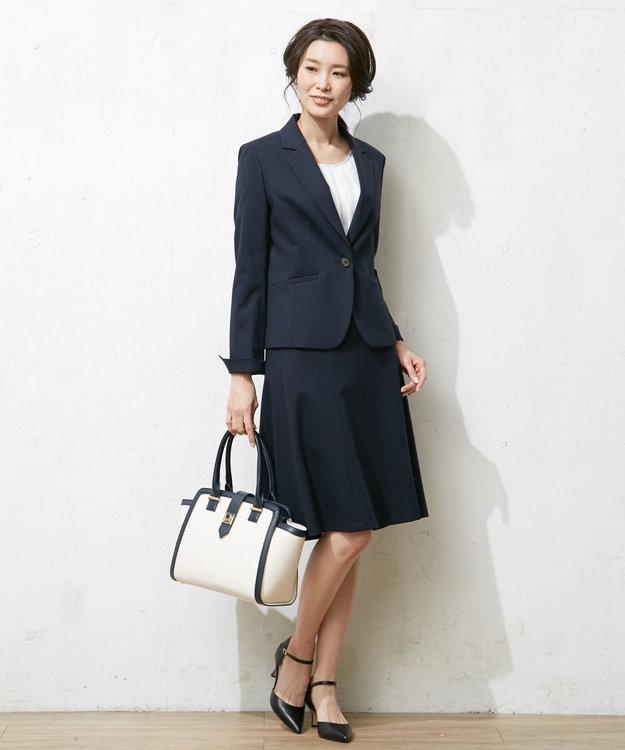 J.PRESS LADIES L 【洗える】60/-リヨセル綿STポンチ テーラードジャケット