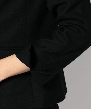 J.PRESS LADIES S シルクウールスーテイング テーラードジャケット ブラック系