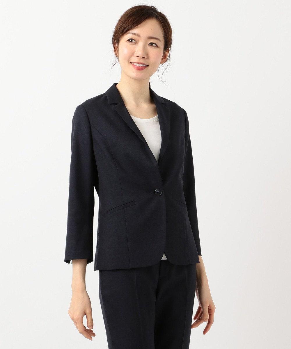 J.PRESS LADIES 【洗えるスーツ】FLAXASA テーラードジャケット ネイビー系