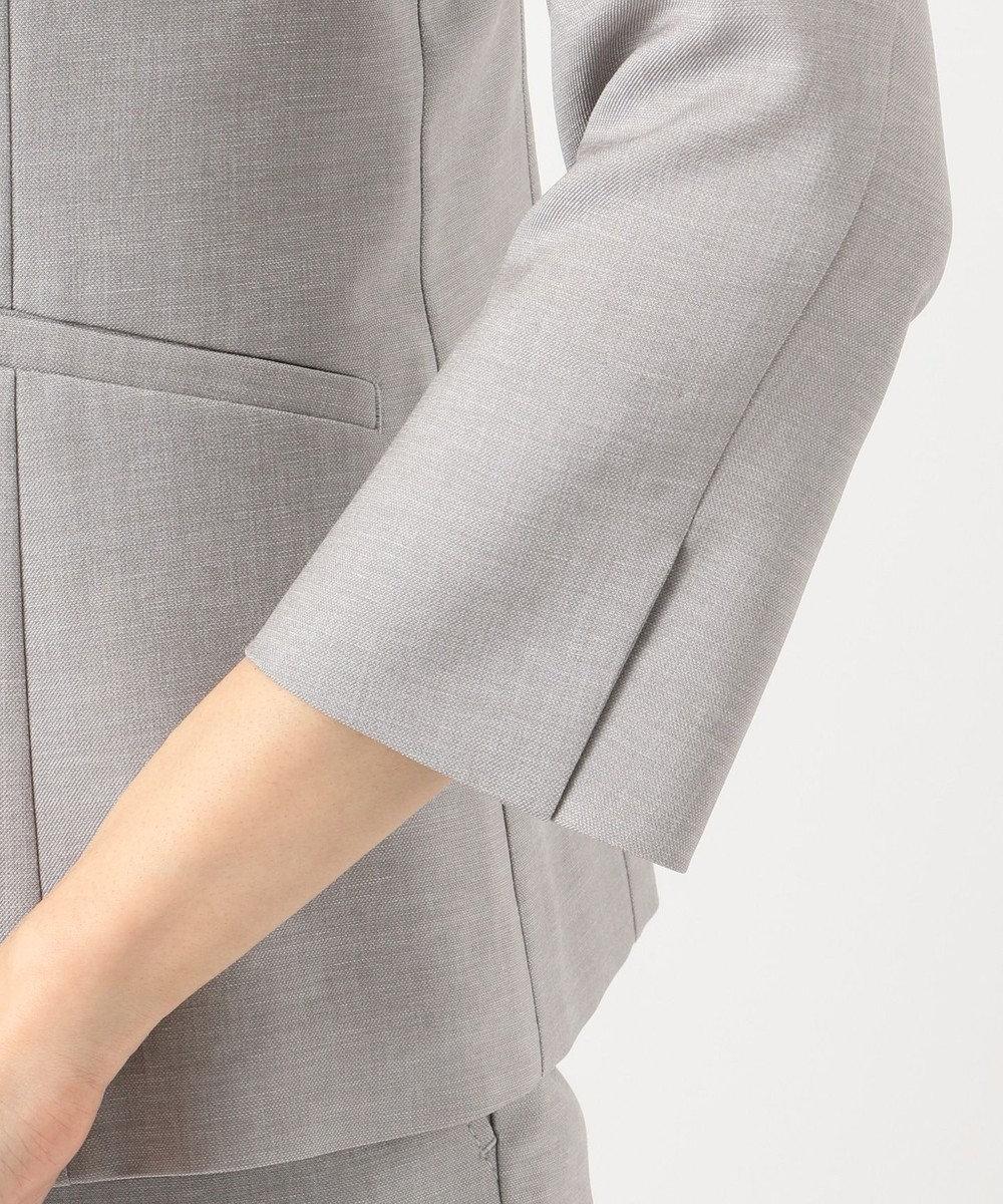 J.PRESS LADIES 【洗えるスーツ】FLAXASA テーラードジャケット ライトグレー系