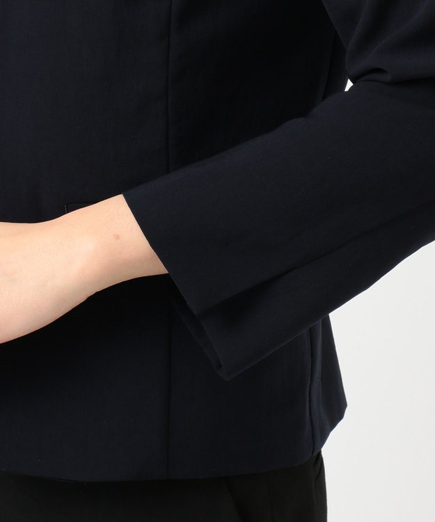 J.PRESS LADIES S 【洗える・しわになりづらい】ソリビア ノーカーラー ジャケット