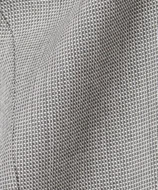 J.PRESS LADIES 【スーツ対応】シルクレーヨンスーティング ノーカラー ジャケット グレー系