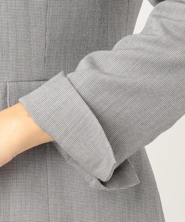 J.PRESS LADIES 【スーツ対応】シルクレーヨンスーティング ノーカラー ジャケット