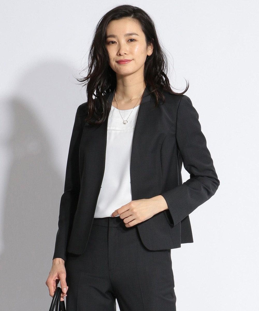J.PRESS LADIES S 【スーツ対応】BAHARIYE2 ノーカラージャケット ブラック系