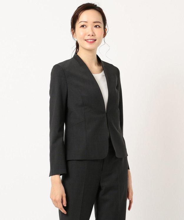 J.PRESS LADIES L 【スーツ対応】BAHARIYE2 ノーカラージャケット