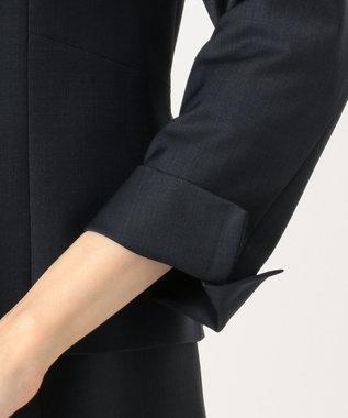 J.PRESS LADIES S 【スーツ対応】BAHARIYE ノーカラージャケット ネイビー系
