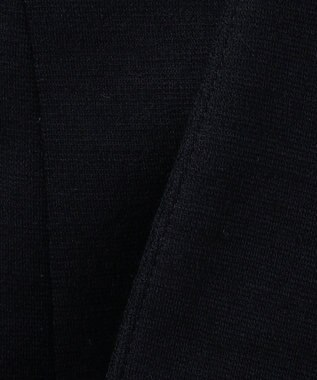 J.PRESS LADIES L ハイパワーポンチ ノーカラー ジャケット ネイビー系