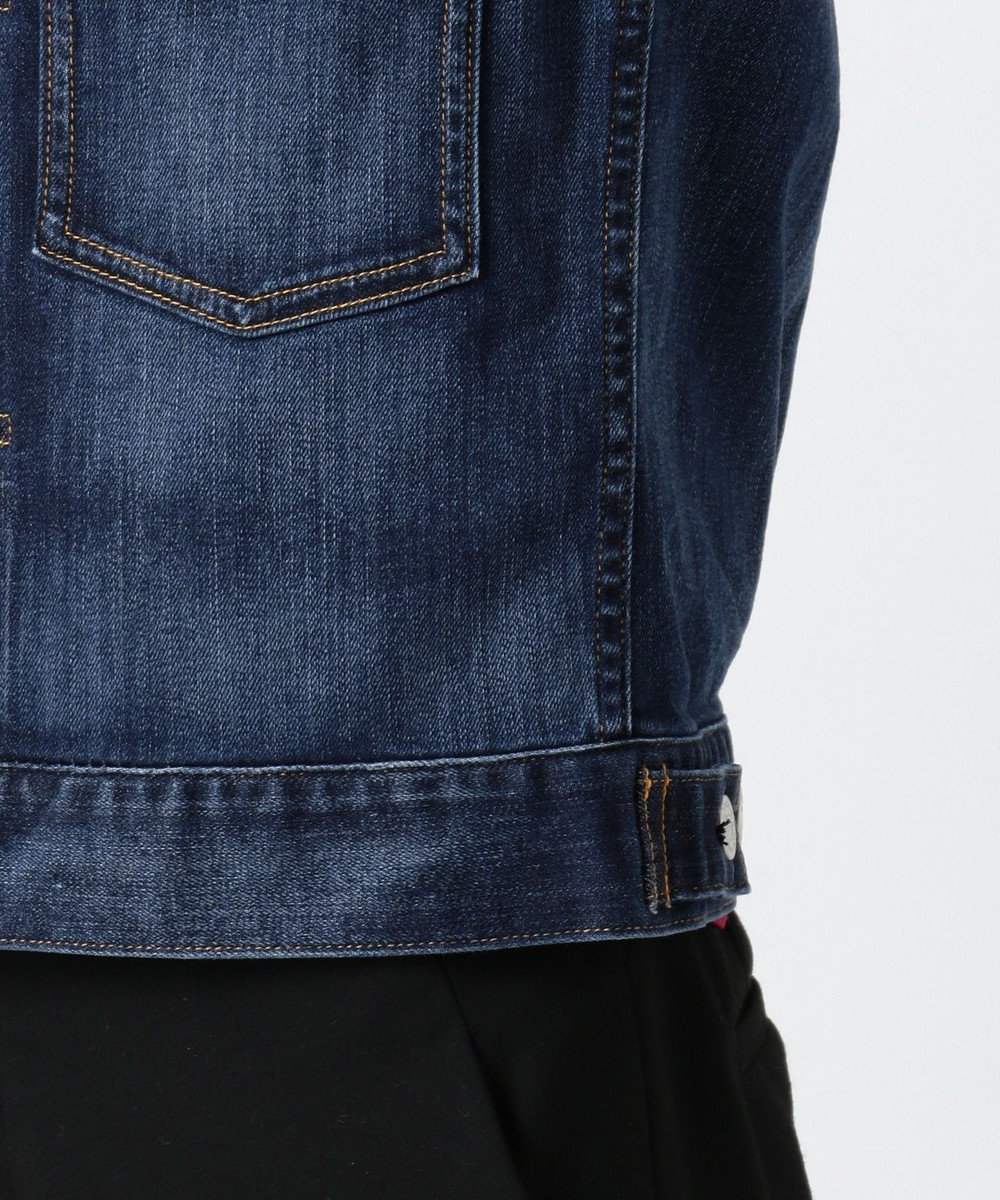 J.PRESS LADIES 【洗える】10オンスストレッチ デニムジャケット ブルー系