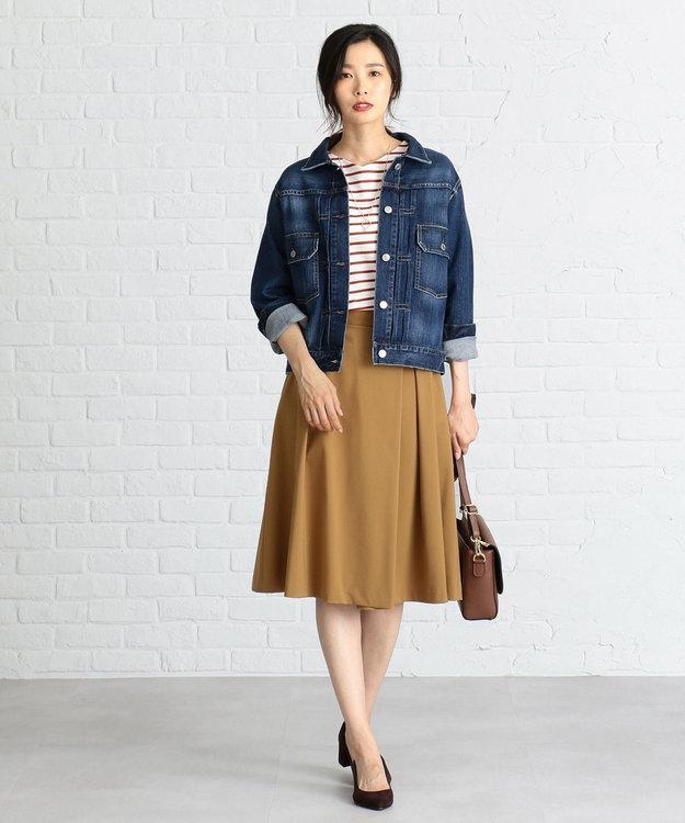 J.PRESS LADIES 【洗える】10オンスストレッチ デニムジャケット