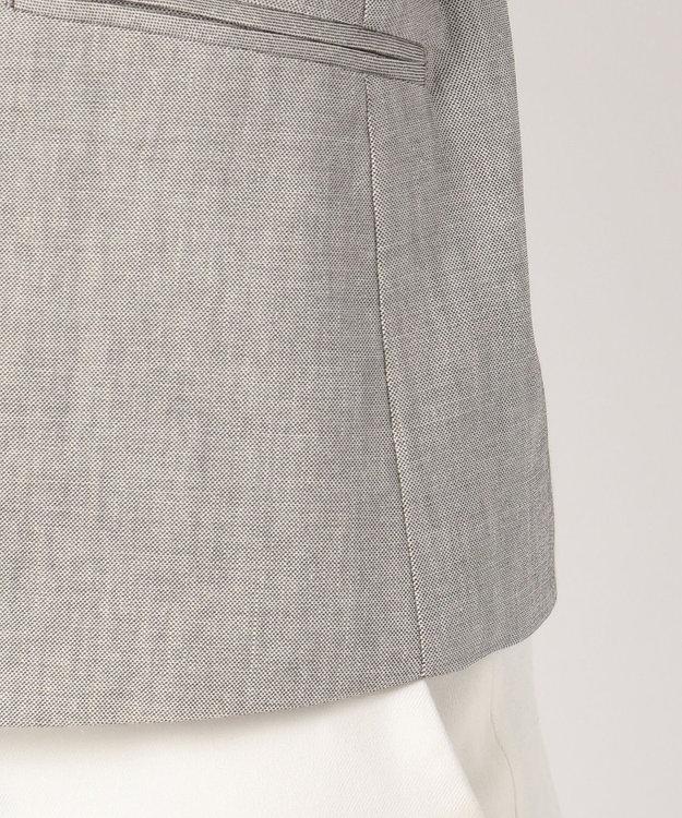 J.PRESS LADIES L 【スーツ対応】コットンリネンコンパクトピンヘッド ノーカラージャケット