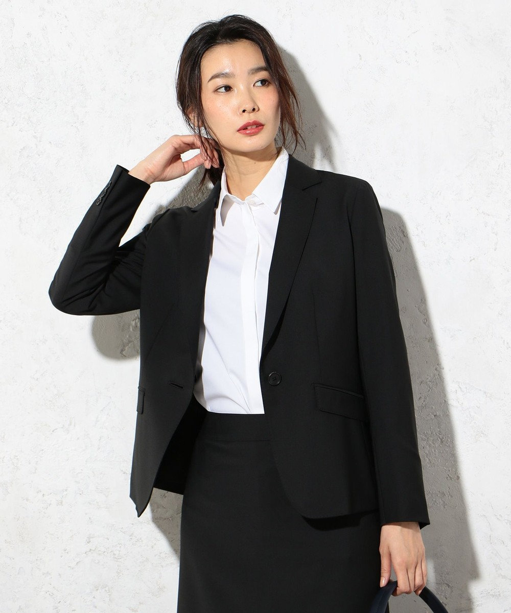 J.PRESS LADIES S 【セットアップ対応】BAHARIYE テーラードジャケット ブラック系