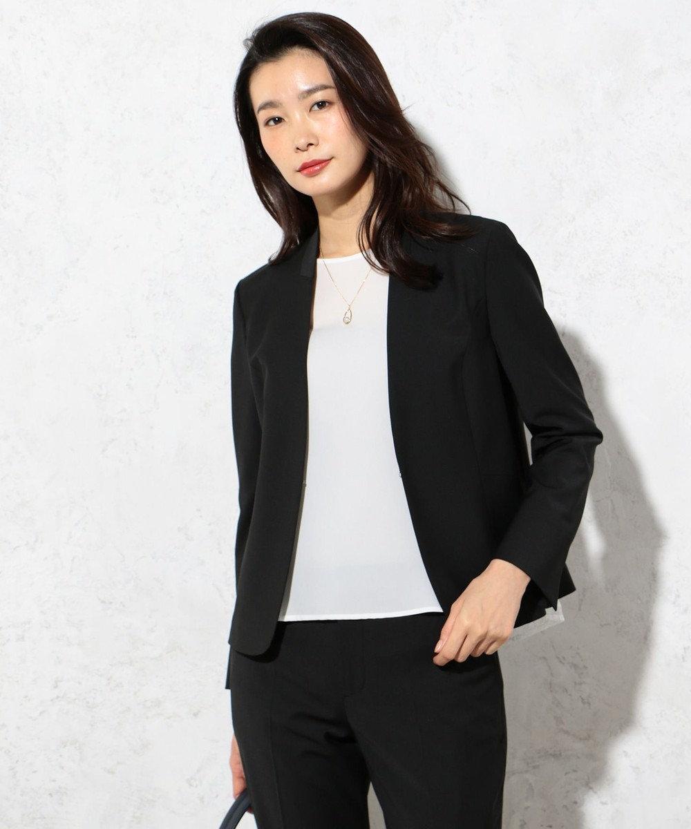 J.PRESS LADIES 【セットアップ対応】BAHARIYE ノーカラージャケット ブラック系