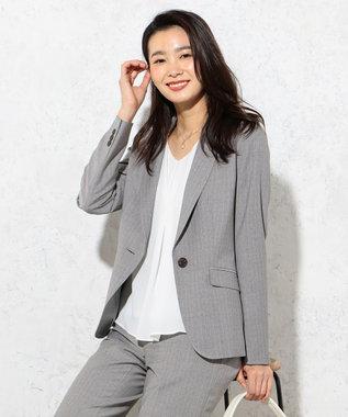 J.PRESS LADIES S 【セットアップ対応】BAEARIYE テーラードジャケット グレー系1