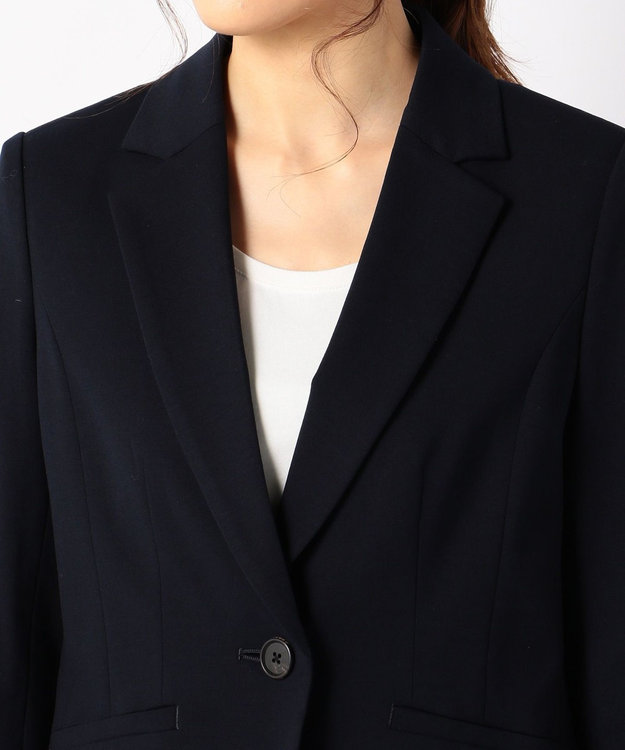 J.PRESS LADIES 【セットアップ対応】アルファクロスジャージ テーラードジャケット