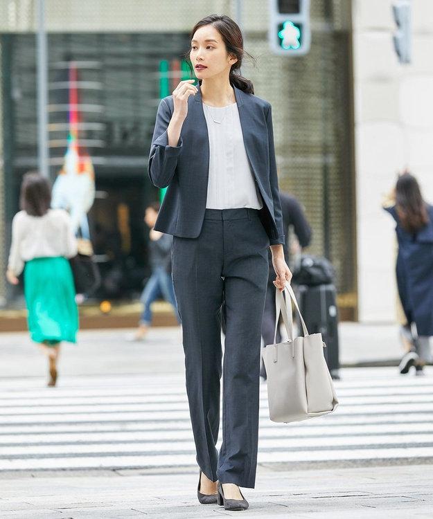 J.PRESS LADIES L 【スーツ対応】BAHARIYE1 ノーカラージャケット