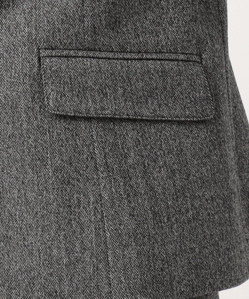 J.PRESS LADIES 【スーツ対応】ウールストレッチヘリンボーン テーラードジャケット グレー系7