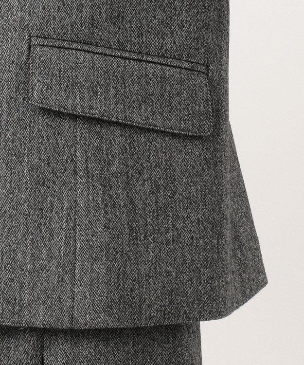 J.PRESS LADIES 【スーツ対応】ウールストレッチヘリンボーン テーラードジャケット
