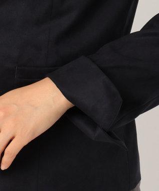 J.PRESS LADIES L 【セットアップ対応】Elmoza Suede ノーカラージャケット ネイビー系