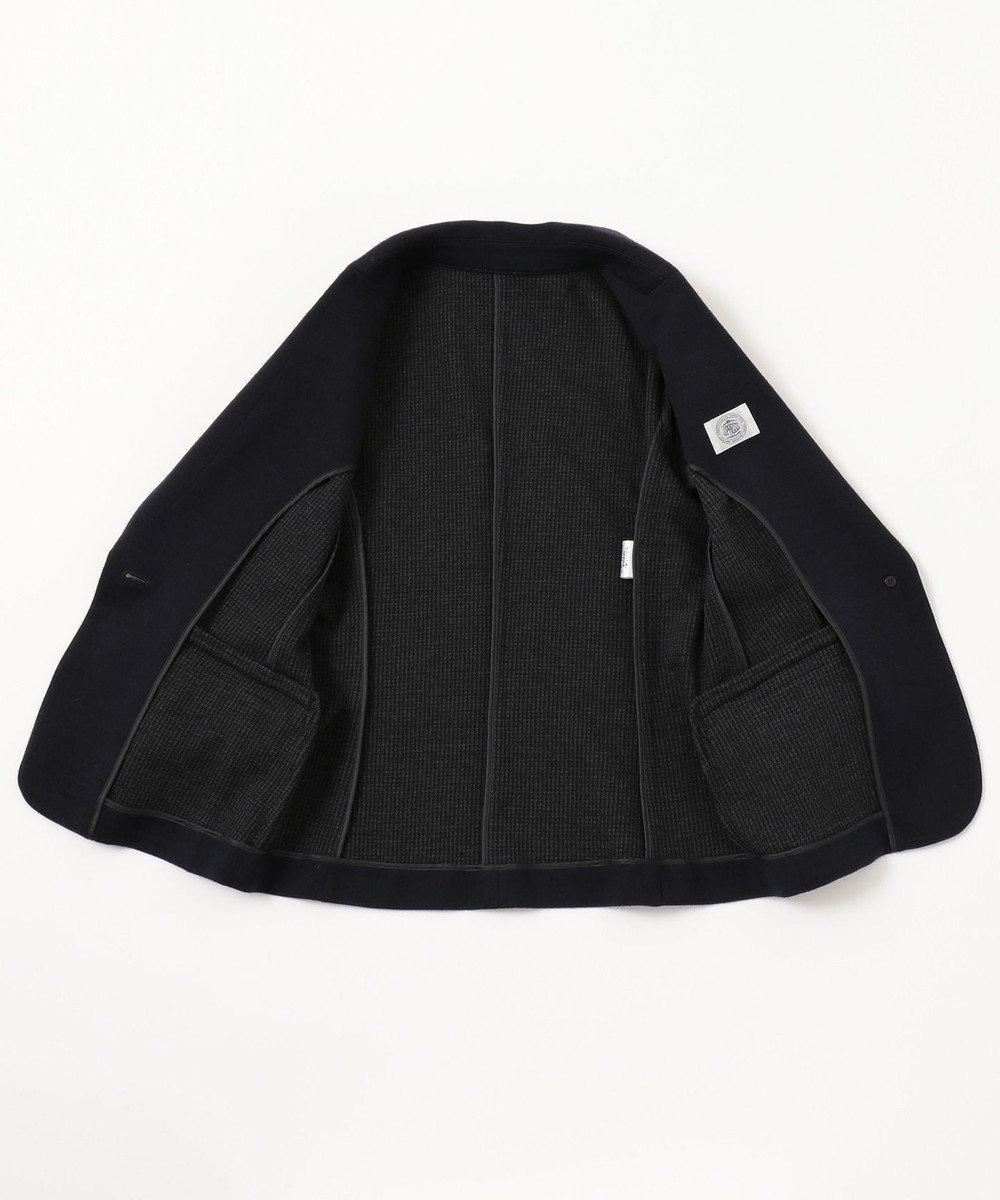 J.PRESS LADIES S C/Wハウンドトゥースリバー テーラードジャケット ネイビー系
