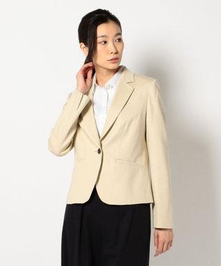 J.PRESS LADIES L 【洗える】60/-リヨセル綿STポンチ テーラードジャケット ベージュ系