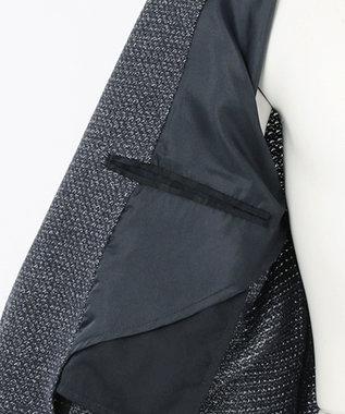 JOSEPH ABBOUD メランジラッセル カットジャケット ネイビー系