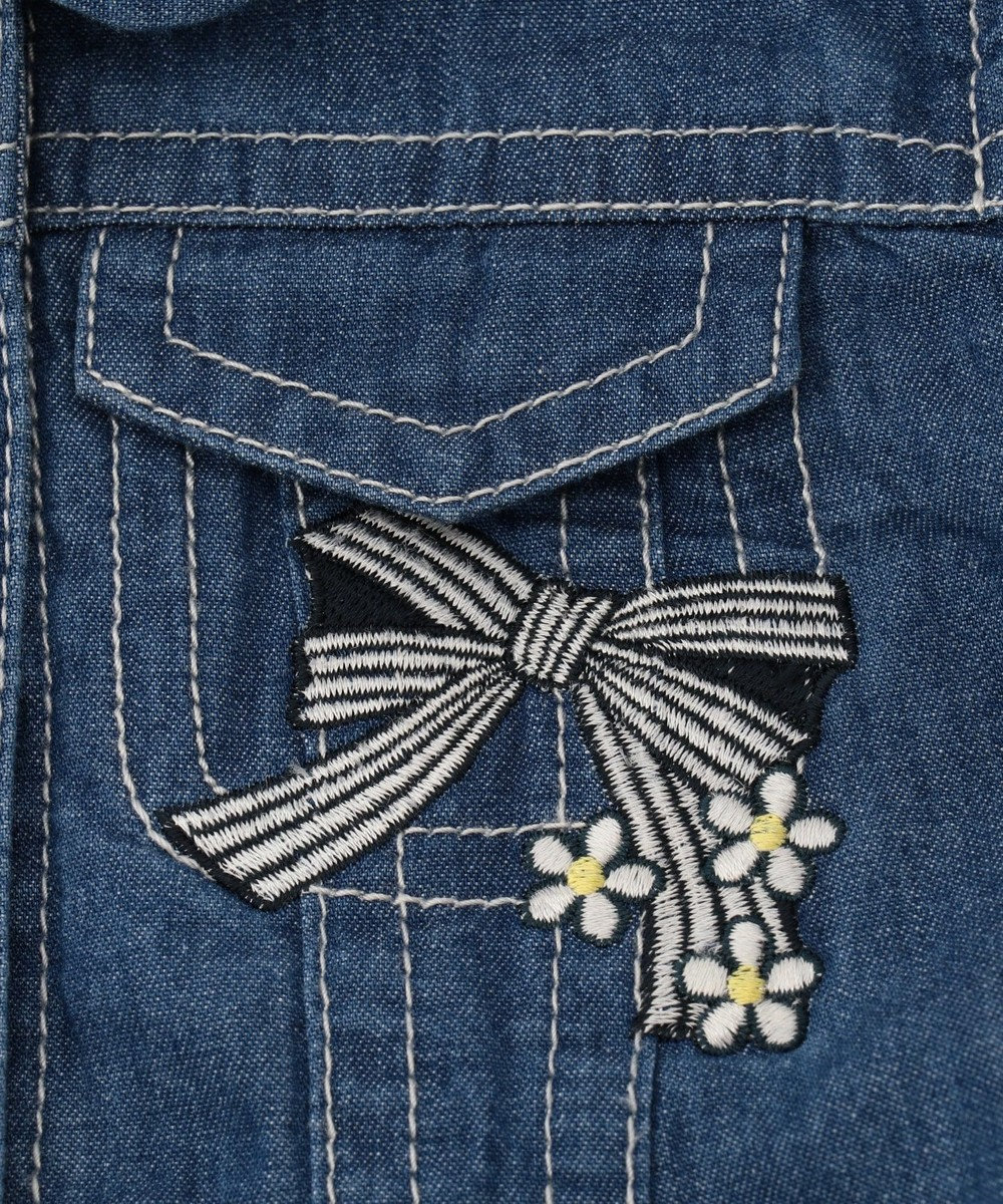 組曲 KIDS 【BABY】4.5OZデニム ジャケット ブルー系