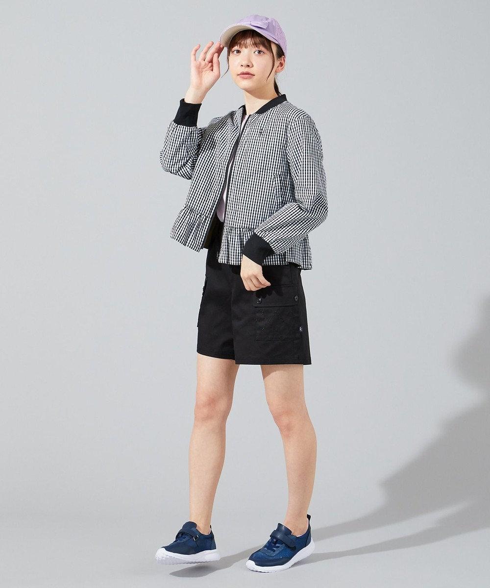 組曲 KIDS 【150-170cm】MA-1+ギンガムチェック リバーシブルブルゾン カーキ系