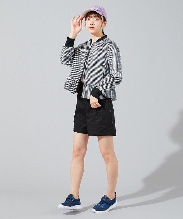 組曲 KIDS 【150-170cm】MA-1+ギンガムチェック リバーシブルブルゾン
