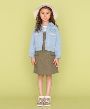 組曲 KIDS 【110-140cm】ブリーチ デニムジャケット サックスブルー系