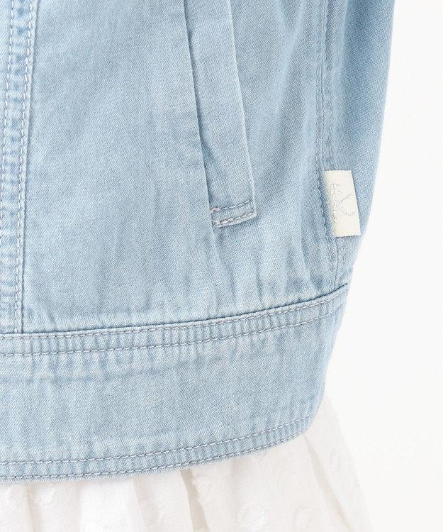 組曲 KIDS 【110-140cm】ブリーチ デニムジャケット