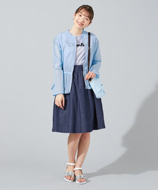 組曲 KIDS 【150-160cm】シアーブルゾン ブルー系
