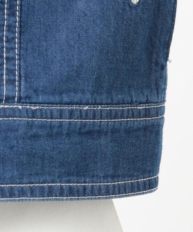 組曲 KIDS 【150~160cm】花柄刺繍 デニムジャケット