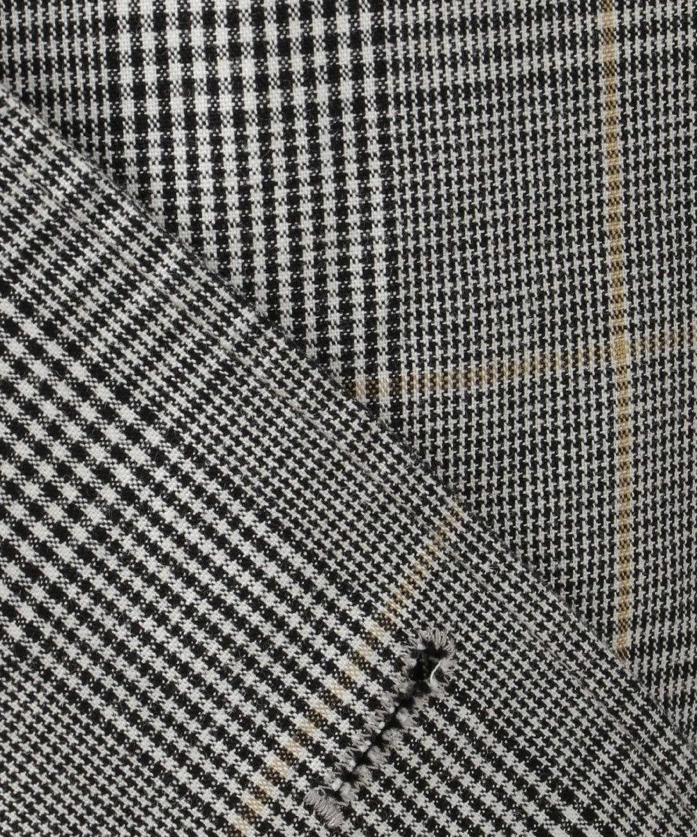 SHARE PARK MENS  【11/8お値下げ】コットンリネンチェック ジャケット ライトグレー系4