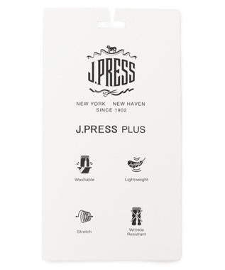 J.PRESS MEN 【J.PRESS PLUS】ウールライクポリエステルストレッチ ジャケット ネイビー系
