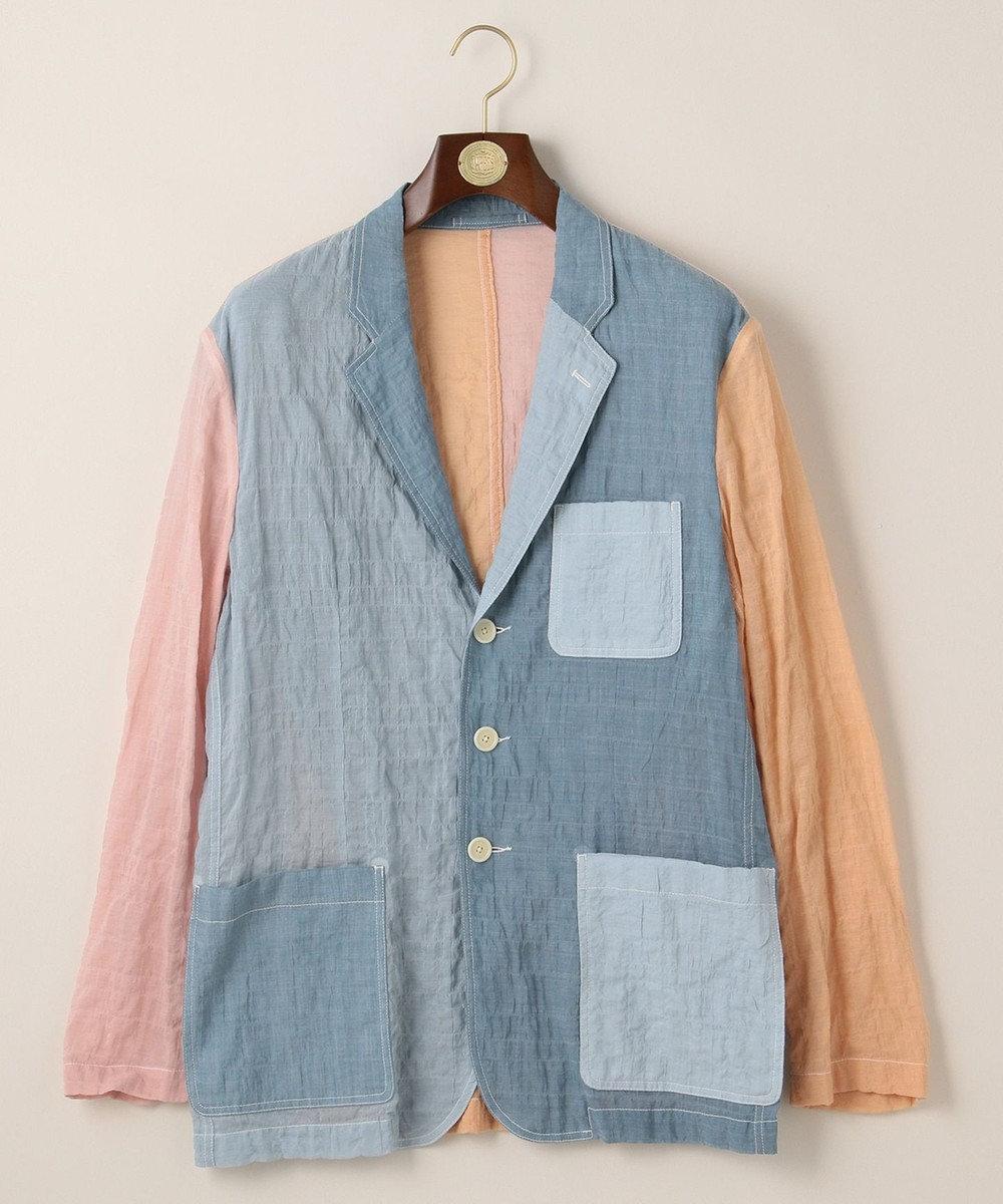 J.PRESS MEN 【キャッチワッシャー】クレイジーパターン ライトジャケット ブルー系9