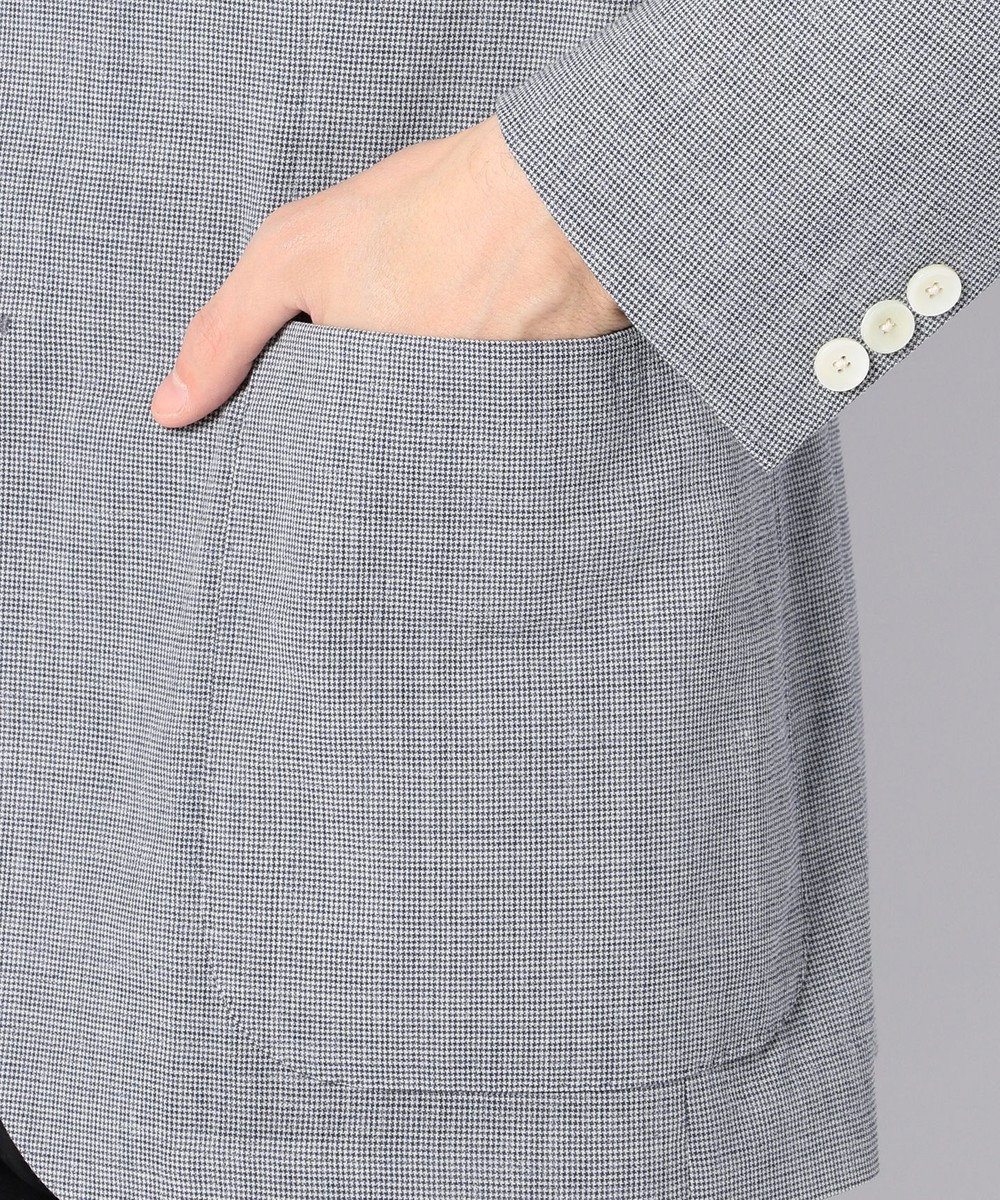 J.PRESS MEN ストレッチリネン ジャケット サックスブルー系8