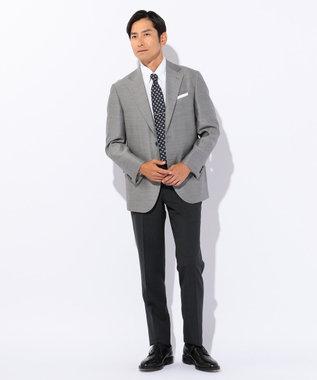 J.PRESS MEN 【マナードシリーズ】マルベリーシルク アンコン ジャケット ライトグレー系