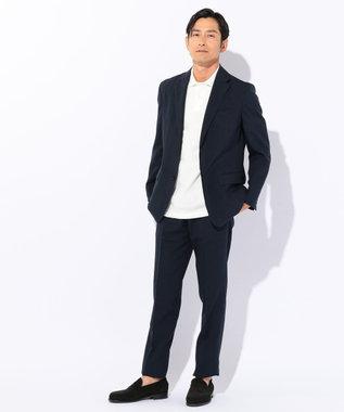 J.PRESS MEN 【シワになりづらい・軽量】ウールライクポリエステル ジャケット ネイビー系