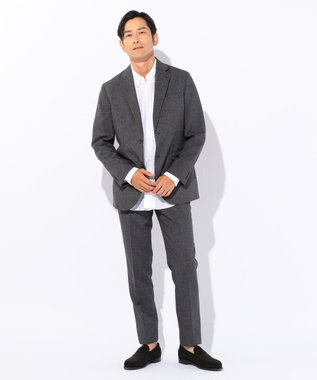 J.PRESS MEN 【シワになりづらい・軽量】ウールライクポリエステル ジャケット グレー系